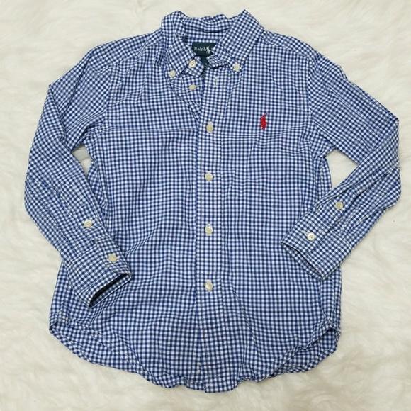 5f3067284ee Ralph Lauren boys button down shirt. M 5aac81e53afbbd1332c25401